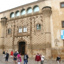 Outside the University building in Baeza